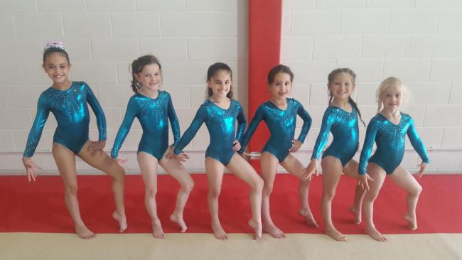 L-R, Mya Edwards, Connie Clark, Azaria Karim, Poppy Falconer, Isla Enos and Olivia Melinn