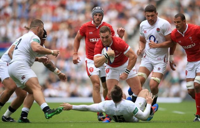 LOOKING FOR RESPONSE: George North shows his strength at Twickenham. Picture: Adam Davy/PA Wire