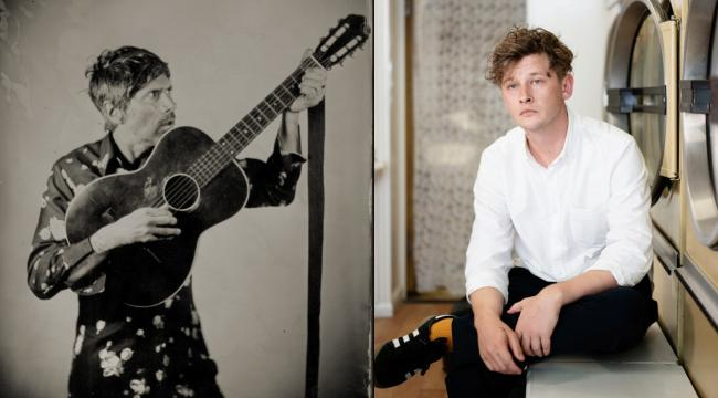 Welsh legend Gruff Rhys and adopted Welshman Bill Ryder Jones. Picture (R): Ki Price