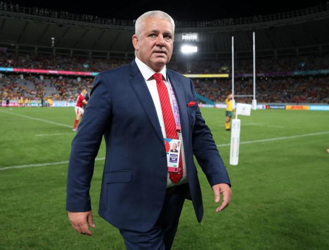 DELIGHTED: Wales head coach Warren Gatland after seeing his team beat Australia in the World Cup. Picture: David Davies/PA Wire