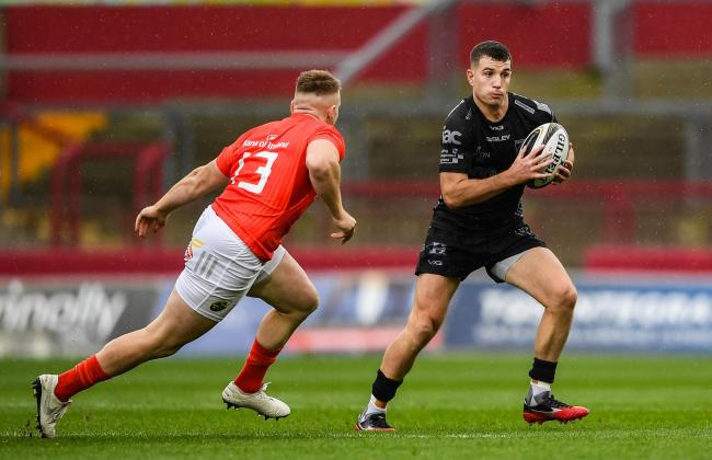 OPPORTUNITY KNOCKS: Wales sevens international Owen Jenkins made his Dragons debut at Munster