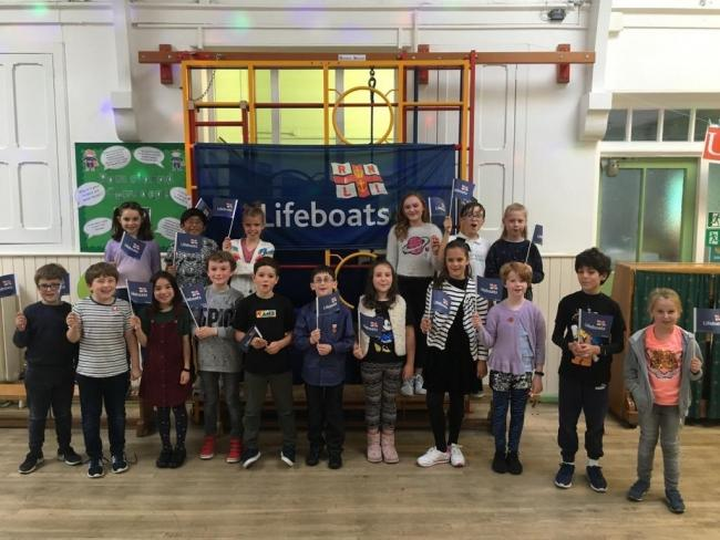 Albert Primary School's RNLI fundraising event