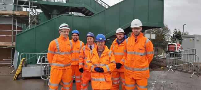 Jane Hutt AM visits Cadoxton Station work