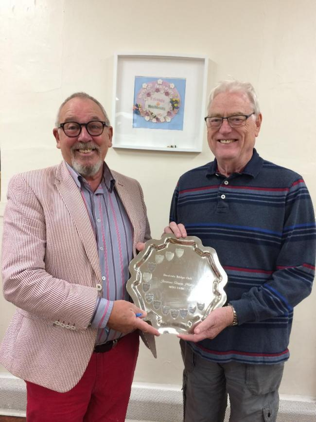Men's pairs winners on 8th October - Mick Green and Denis Mottram