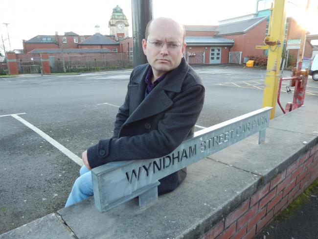 Cllr Ian Johnson at Wyndham Street car park, in Barry