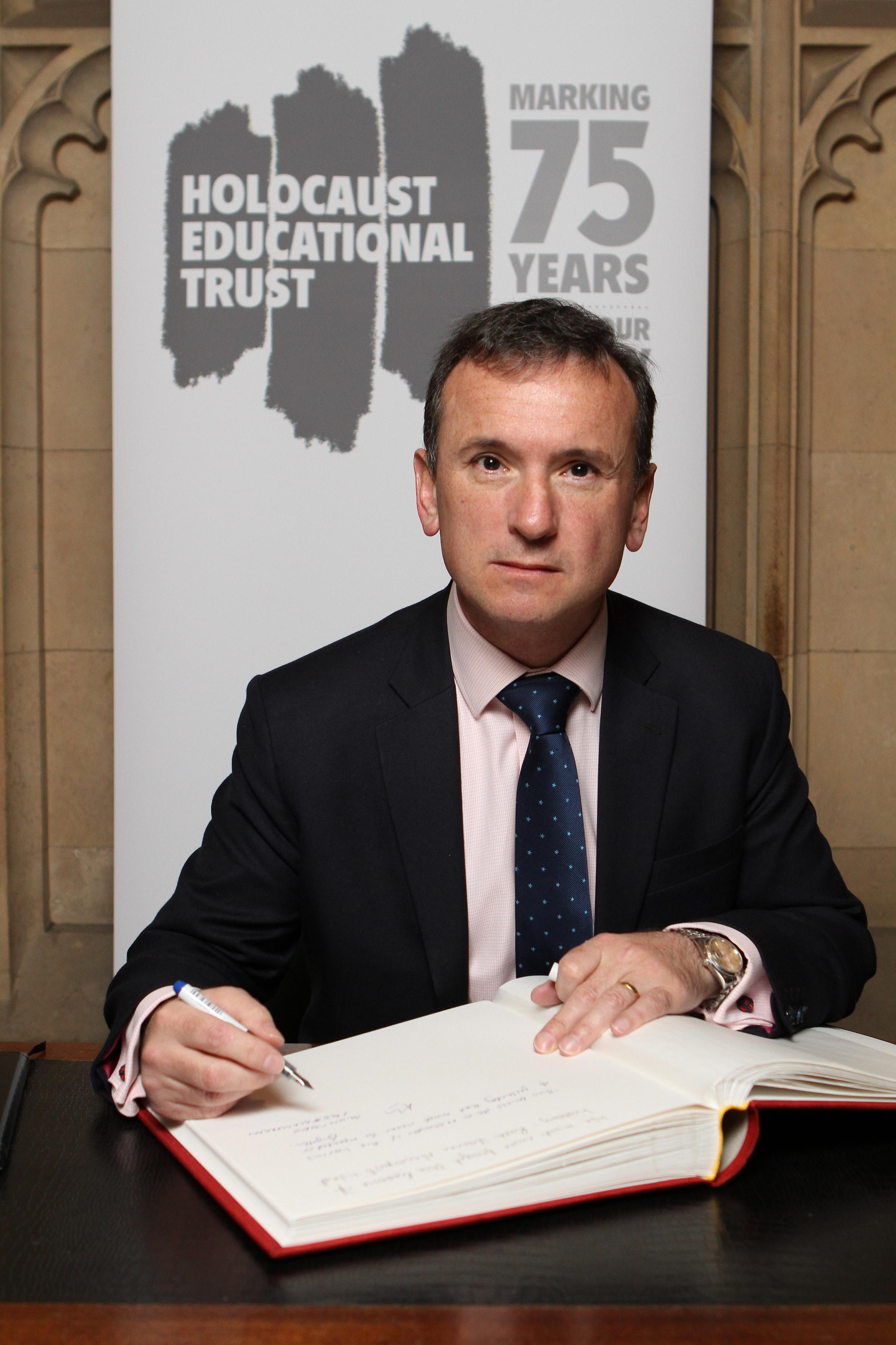 Vale MP signs Holocaust Educational Trust's Book of Commitment in Parliament