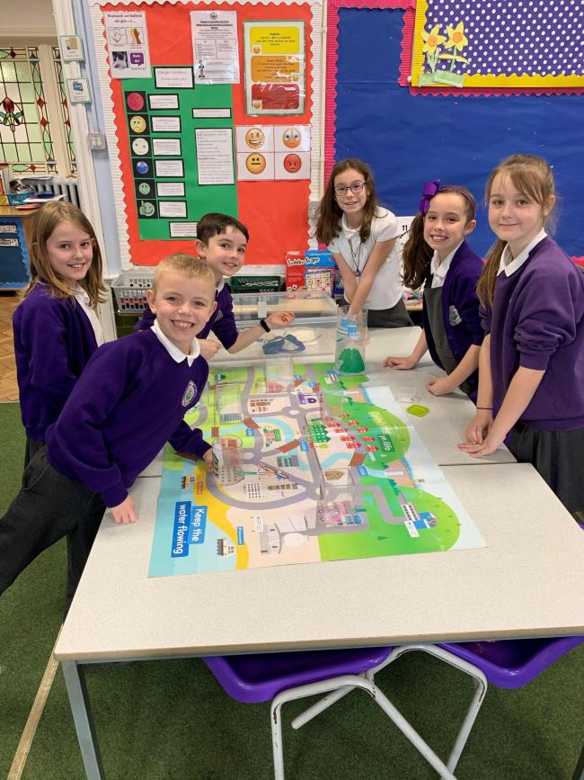 Ysgol St Curig pupils engage in Welsh Water workshop