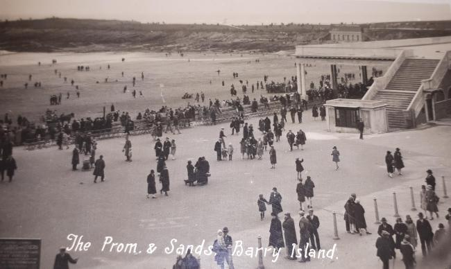 Promenade and sands at Barry Island