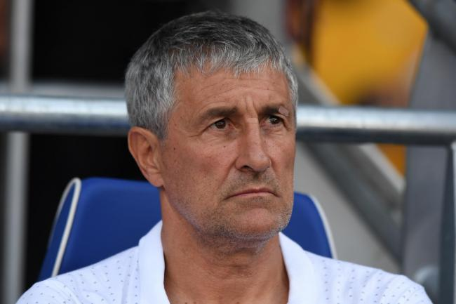 Quique Setien is confident Barcelona will find a solution to their striker shortage
