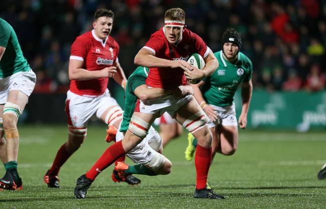 PROSPECT: Dragons lock Ben Carter in action for Wales Under-20s (Picture courtesy of WRU)
