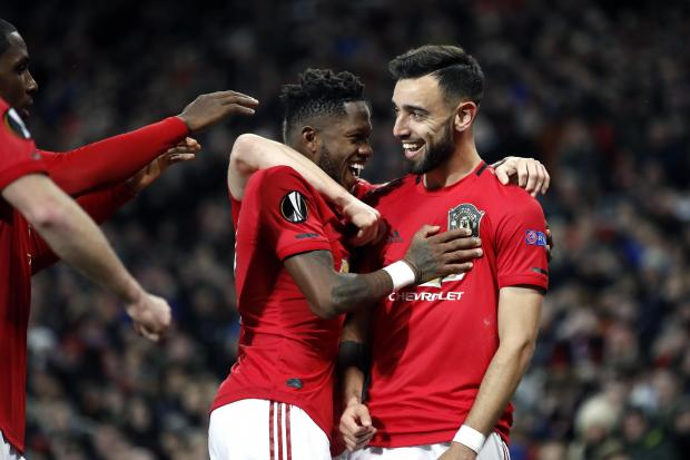 Manchester United swept aside Club Brugge in the last 32 of the Europa League