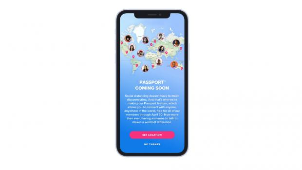 Barry And District News: TINDER: The Passport feature has now been rolled out for free to users around the world. Picture: Tinder