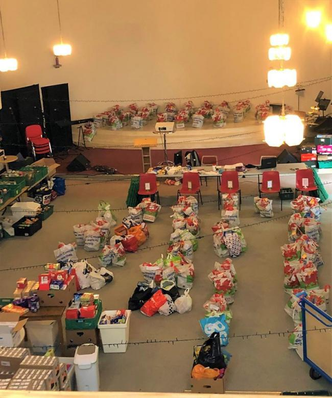 Food parcels at the Vale foodbank