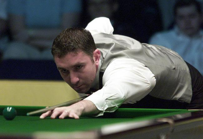 Anthony Davies on the table on his way to beating Stephen Hendry  5-1 in a best of nine frames during the 2001 Stan James British Open at the Telewest Arena, Newcastle. Picture: Press Association