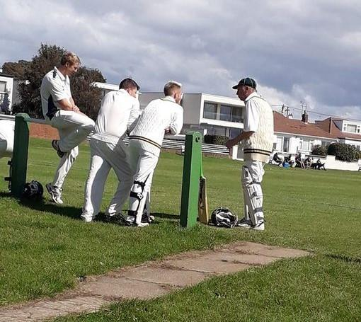 Sully players waiting to bat