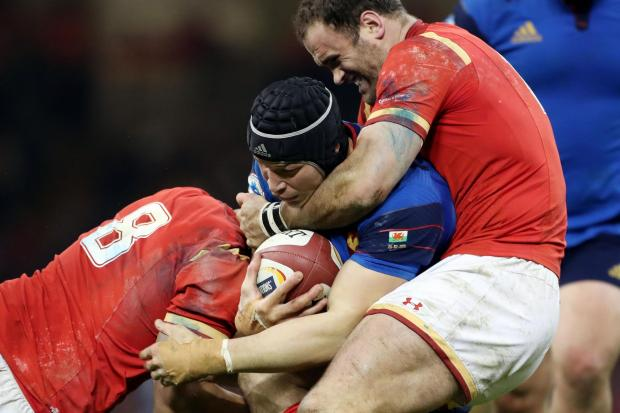STRONG: Dragons centre Jamie Roberts was rock solid in defence for Wales and the Lions
