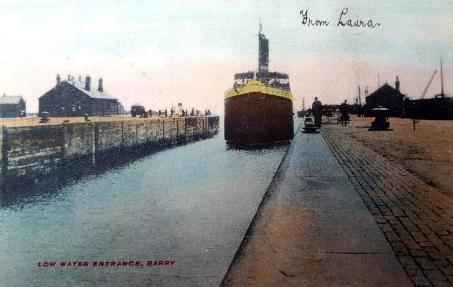 Lower water entrance, Barry Dock