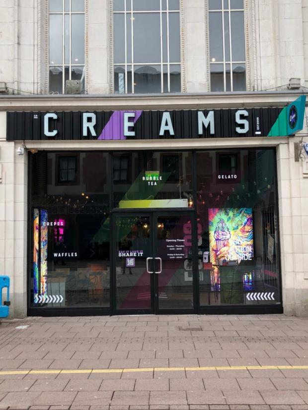Barry And District News: Creams Café on Queen Street in Cardiff (Picture: Creams)