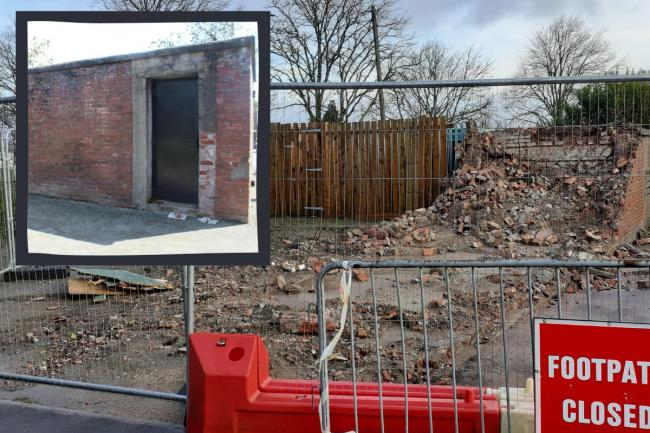 The last known air raid shelter in Barry is no more