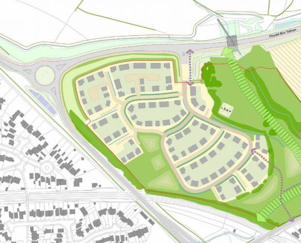 Barry And District News: A plan showing the layout of site A. Picture: WYG