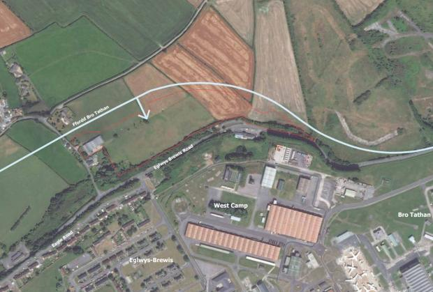 Barry And District News: A map showing site B. Picture: WYG