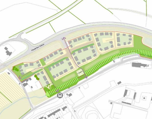 Barry And District News: A plan showing the layout of site B Picture: WYG