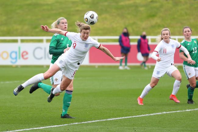 Ellan White in action for England