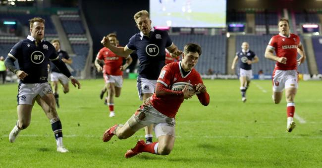 SENSATION: Wing Louis Rees-Zammit scored Wales' match-winner against Scotland at Murrayfield