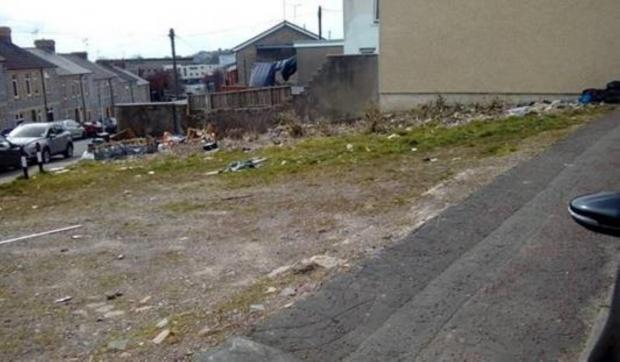 Barry And District News: Then — unkept former site of Dinam Hall, Merthyr Street. Picture: Vale of Glamorgan Council