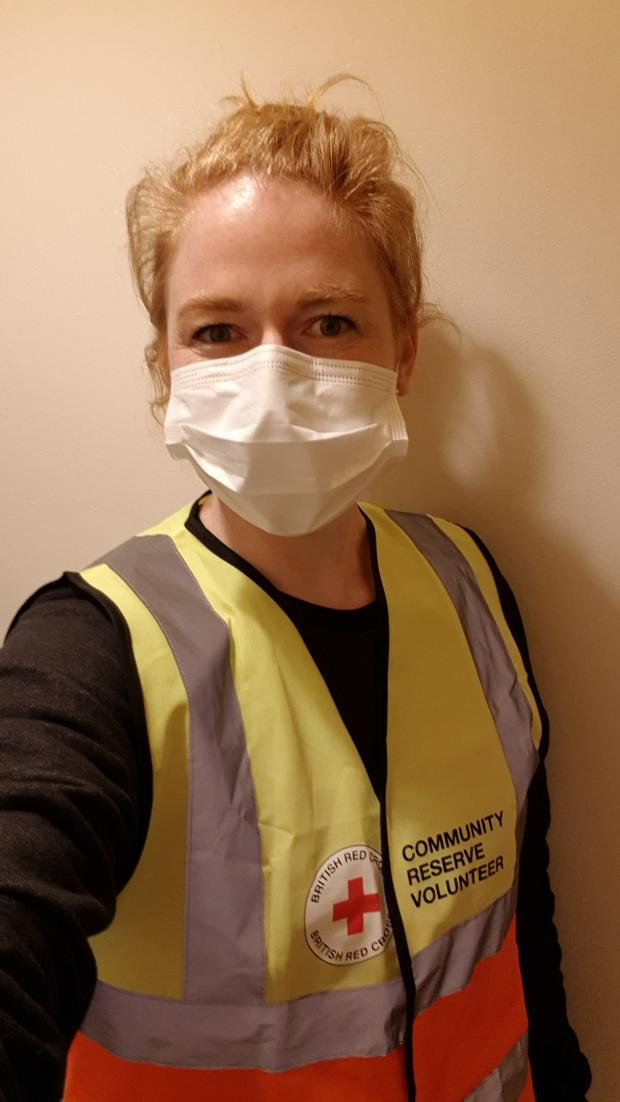 Barry And District News: Katie Cooke, one of the British Red Cross volunteers