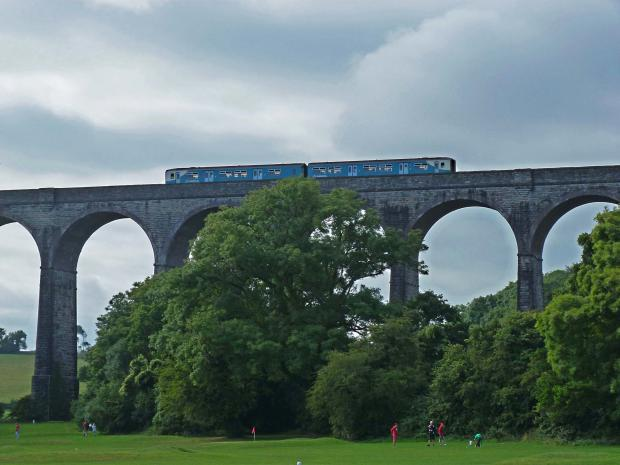 Barry And District News: SCENIC: Train going over Porthkerry viaduct. Picture: Liz Richards
