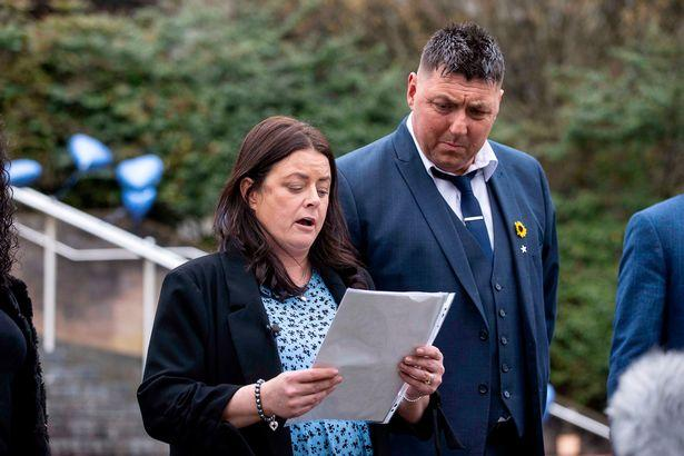 Barry And District News: Harry Baker's parents Emma and Peter Baker outside Newport Crown Court (Image: Chris Fairweather/Huw Evans Agency)
