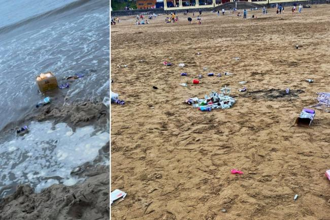 Litter left on Barry Island (Left picture: Amy Rae Pugh)