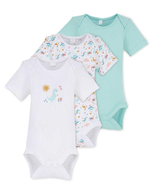 Barry And District News: Dinosaur Baby Bodysuit 3 Pack. (Aldi)