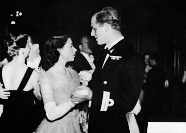 Barry And District News: Princess Elizabeth dancing with her fiance, Lieutenant Philip Mountbatten (PA)