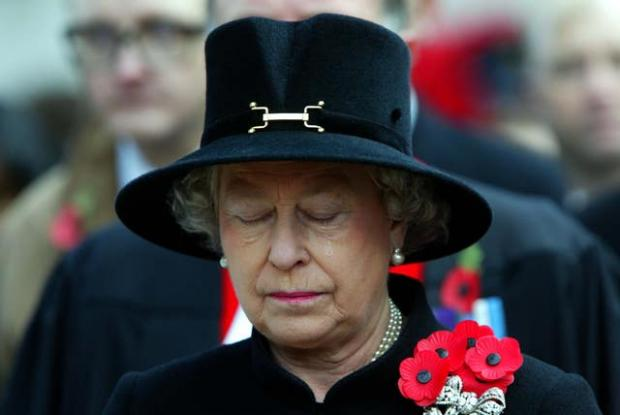 Barry And District News: The Queen sheds a tear during the Field of Remembrance Service at Westminster Abbey in 2002 (PA)