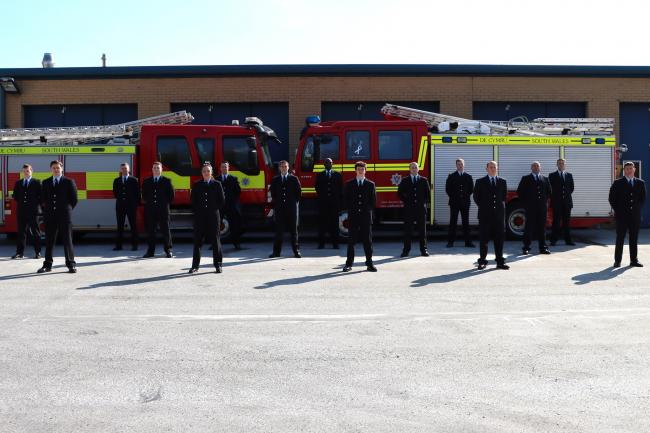 The passing out parade (Picture: SWFRS)