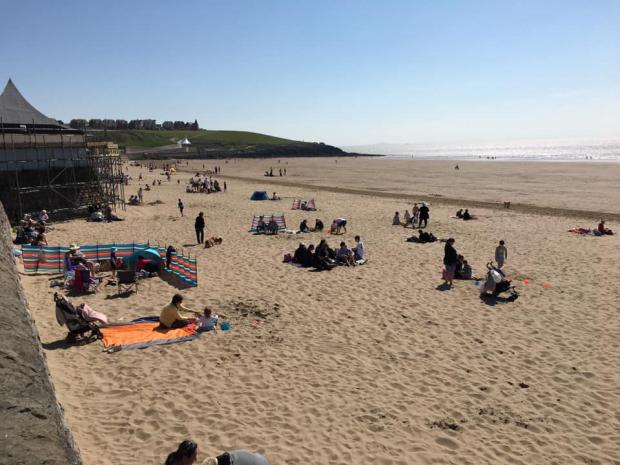 Barry And District News: Socially distanced beach visits. Picture: Visit Barry Island