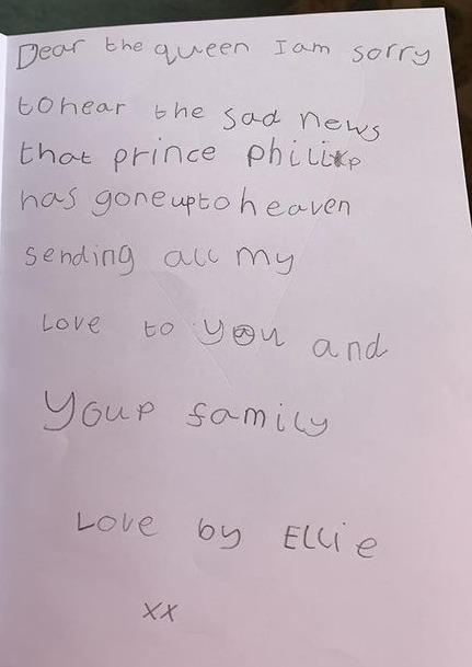 Ellies message to Queen Elizabeth II