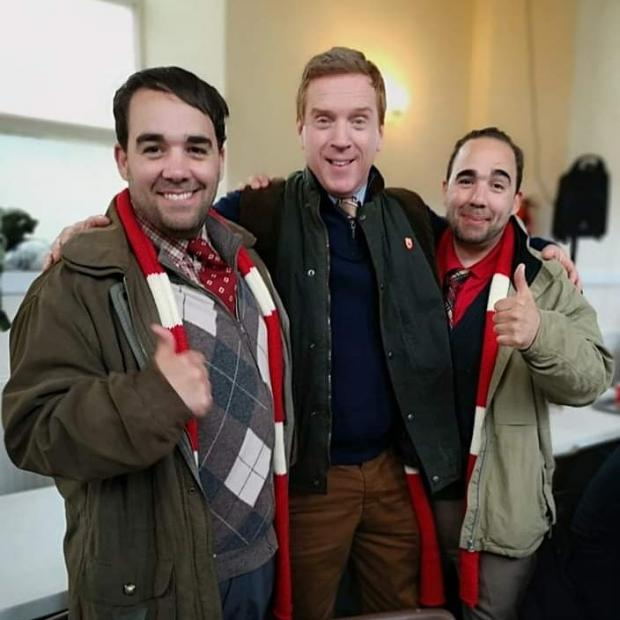 Barry And District News: Rhys and Gerald Horler with Damian Lewis