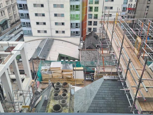 Barry And District News: A view from one of the windows of The Parkgate Hotel which is under construction and due to open in autumn