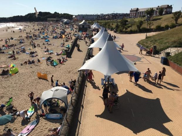 Barry And District News: There were plenty of beachgoers on Sunday soaking up the sun. Picture: Visit Barry Island