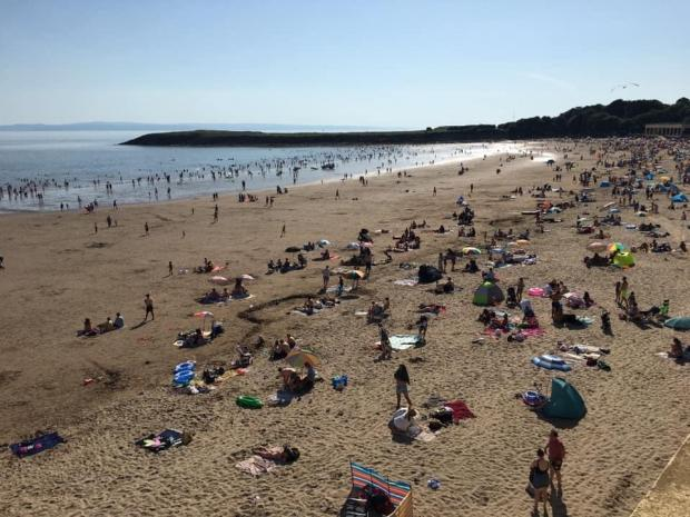 Barry And District News: Many went for a dip in the sea. Picture: Visit Barry Island