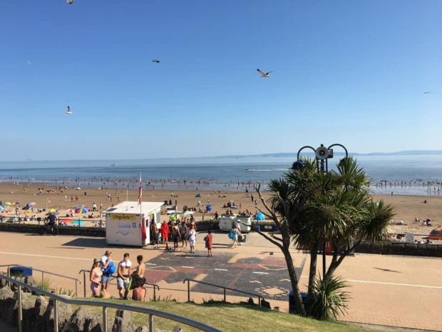 Barry And District News: Many were also taking stroll along the promenade. Picture: Visit Barry Island