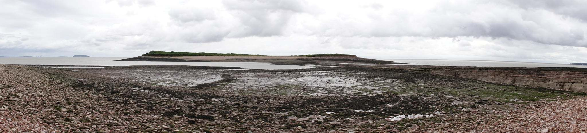 n amazing picture of Sully Island at low tide by John Wilson