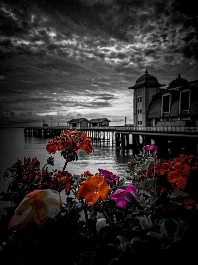 A moody image of Penarth Pier by Sameer Gangoli