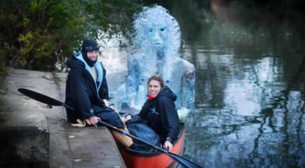 Barry And District News: The plastic mermaid sculpture (Picture: Lindsey Cole)