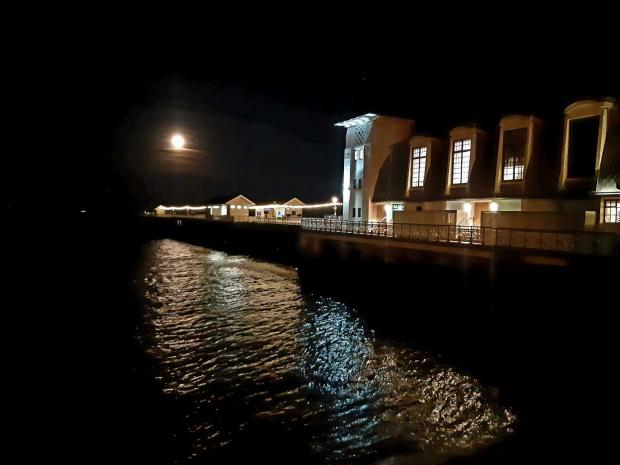 Barry And District News: Penarth Pier in the moonlight taken by Alex Beard.