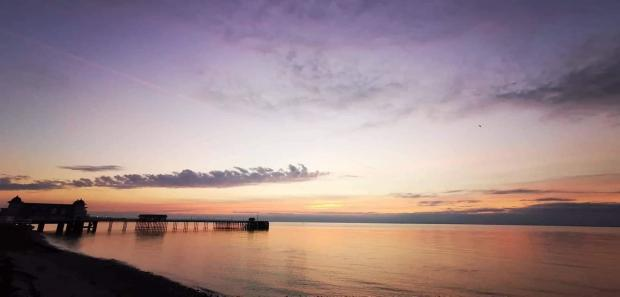 Barry And District News: Beautiful sunrise at Penarth Beach taken by Phillip Cullen.