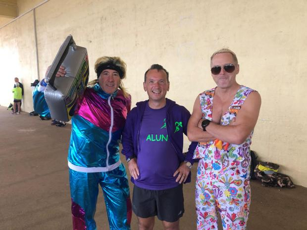 Barry And District News: Alun Cairns (middle) with other parkrunners
